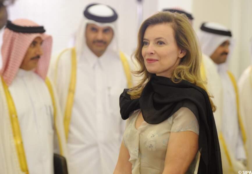 Valérie trierweiler au Qatar
