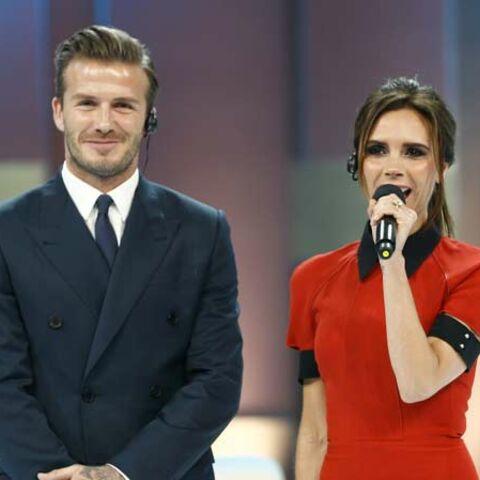 David Beckham et Victoria: bon sourire de Pékin Gala