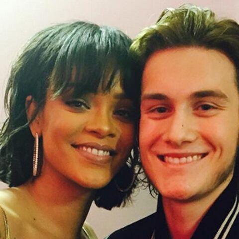 Rihanna et René-Charles Angélil, joue contre joue
