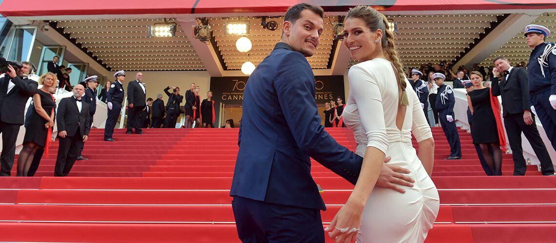 PHOTOS – Laury Thilleman et son compagnon Juan Arbelaez, très amoureux sur le tapis rouge de Cannes