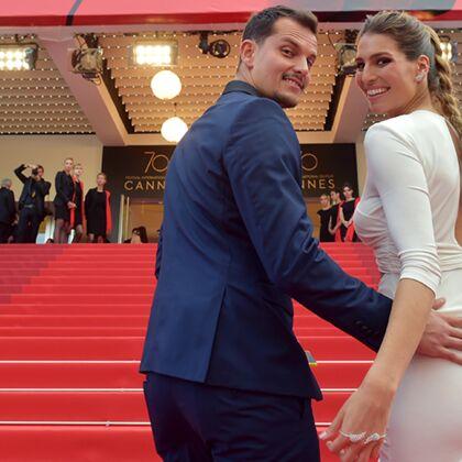 Laury Thilleman et Juan Arbelaez  après leur mariage, ils