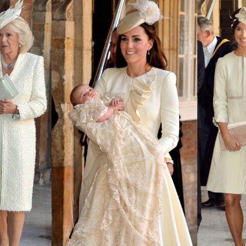 Photos – Royal Baptême: Kate, Pippa, Camilla, total-looks ivoire