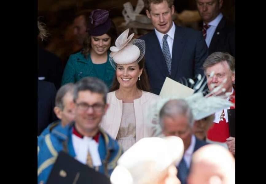 Kate à l'issue de la cérémonie