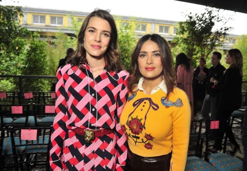 Charlotte Casiraghi et Salma Hayek