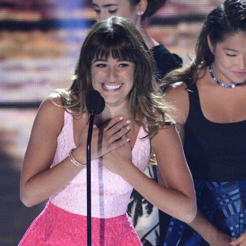 Lea Michele, son collier en mémoire de Finn