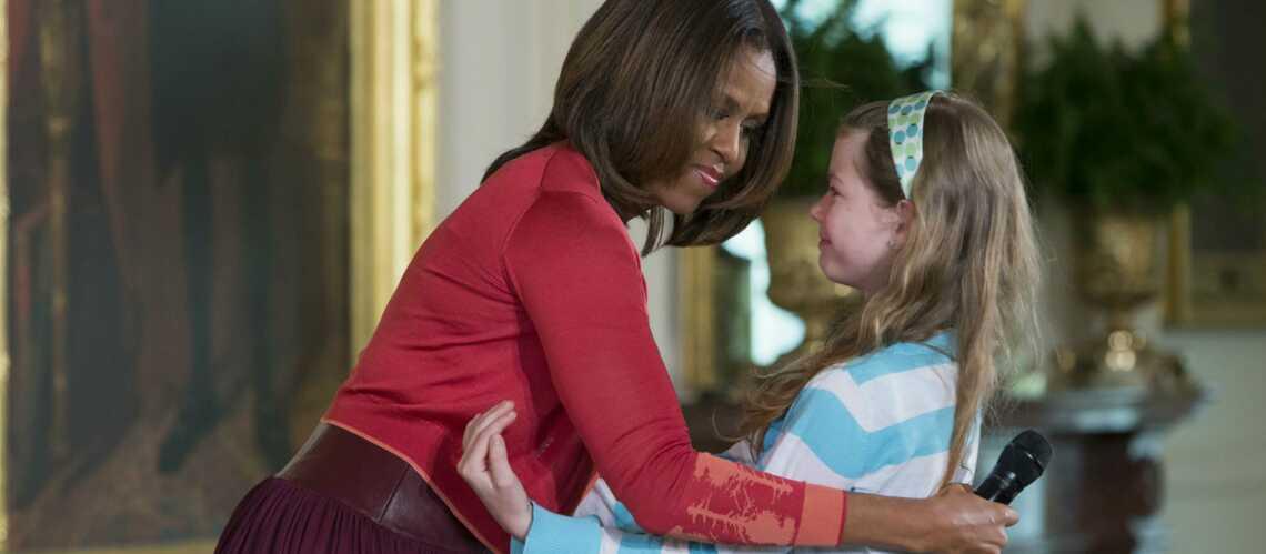 Photos- Michelle Obama émue par la bravoure d'une petite fille