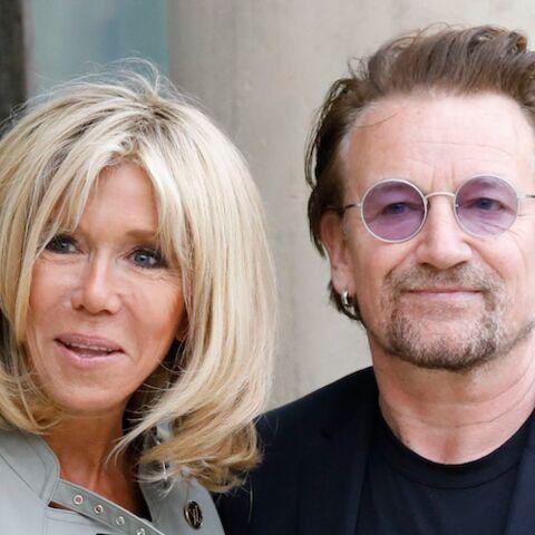 PHOTOS – Entre Bono et Brigitte Macron le courant est bien passé