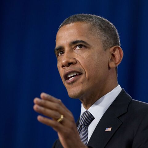 Barack Obama en tournage