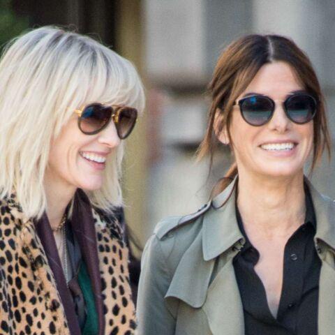 PHOTOS – Sandra Bullock et Cate Blanchett, complices et baroudeuses sexy, sur le tournage d'Ocean's Eight