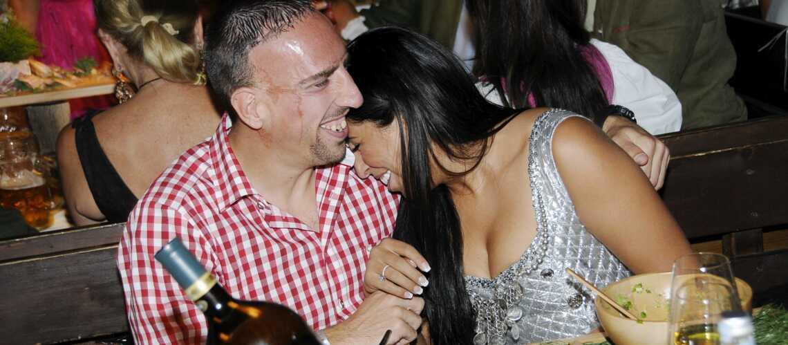 Franck Ribéry et sa femme Wahiba, fidèles à la fête de la bière