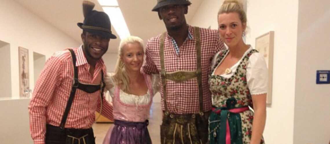 Photo- Usain Bolt en costume bavarois à Munich