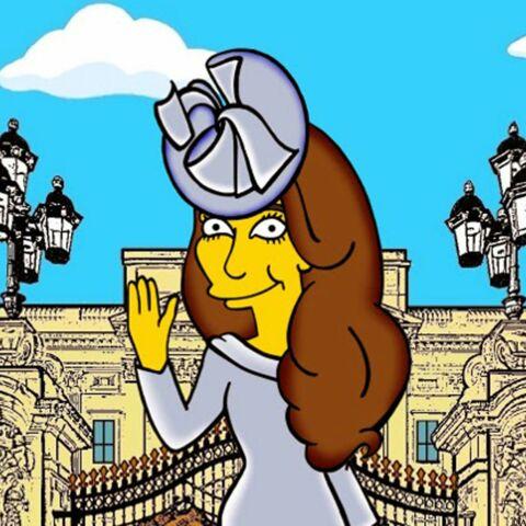 Princesse Kate croquée en Simpson