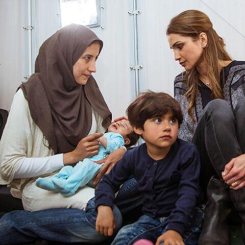 Rania de Jordanie, auprès des réfugiés
