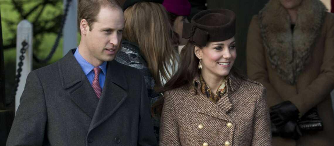 Kate et William à la messe de Noël sans George