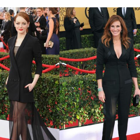 Emma Stone, Julia Roberts, black is chic aux SAG Awards