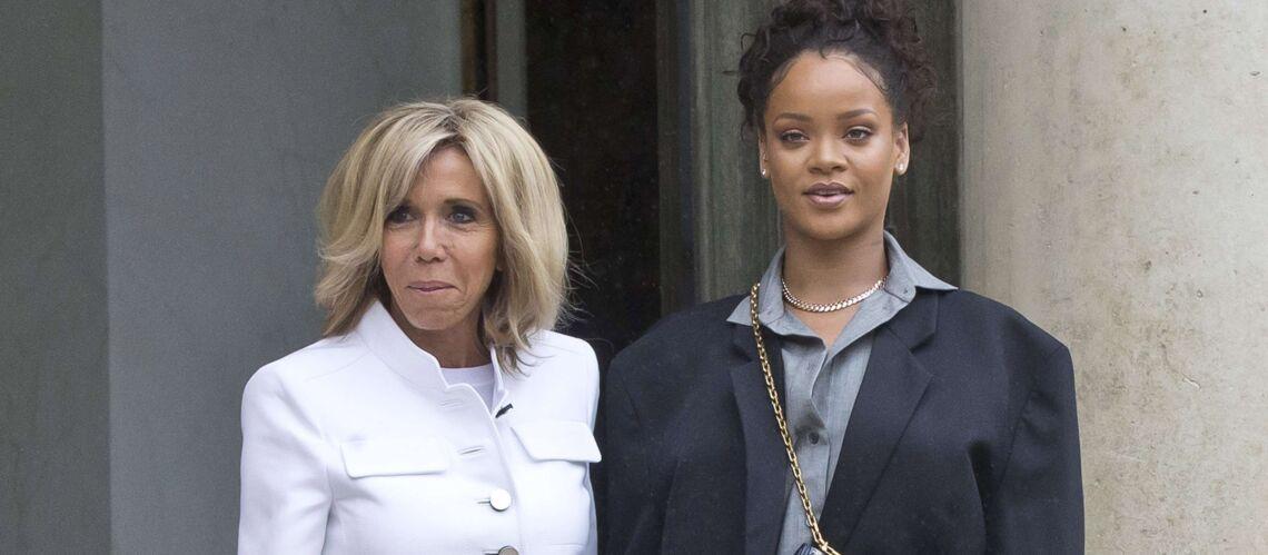 PHOTOS – Rihanna à l'Élysée: sa veste et son look original font jaser sur les réseaux sociaux