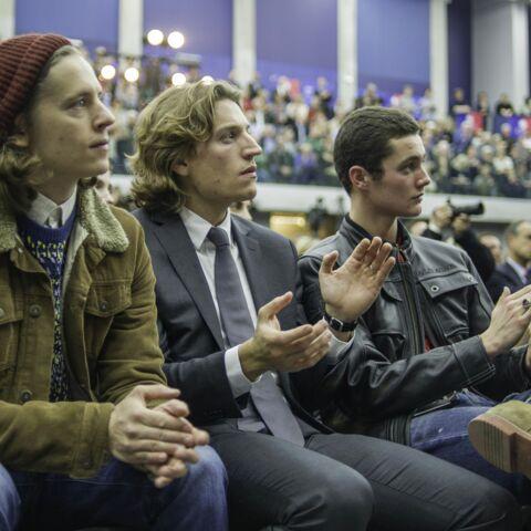Pierre, Jean, Louis Sarkozy entre frères pour soutenir leur papa
