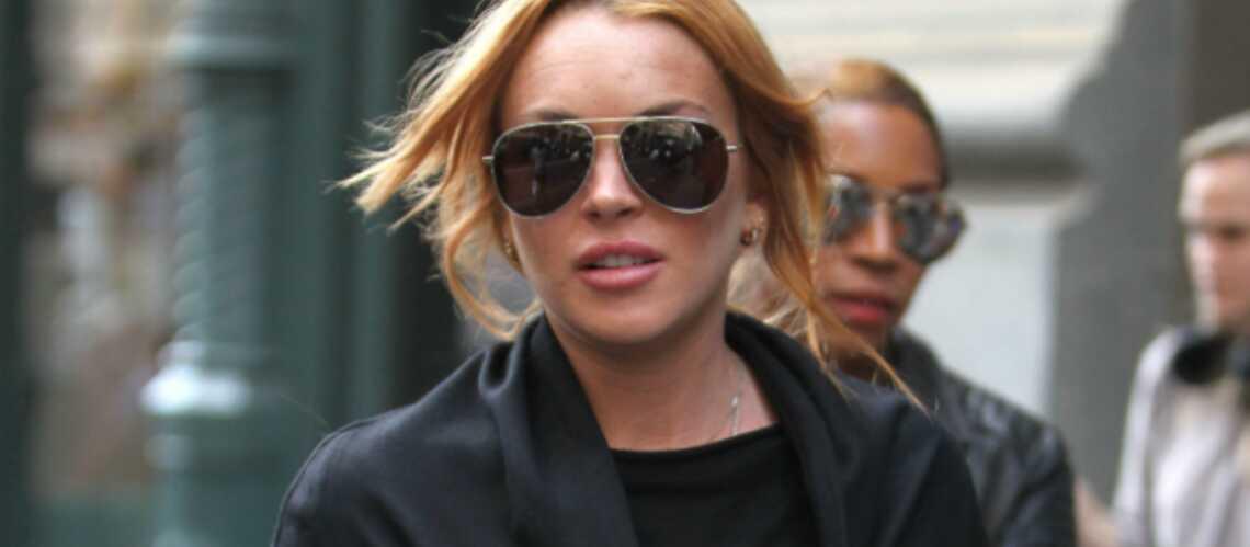 Lindsay Lohan fuit les journalistes