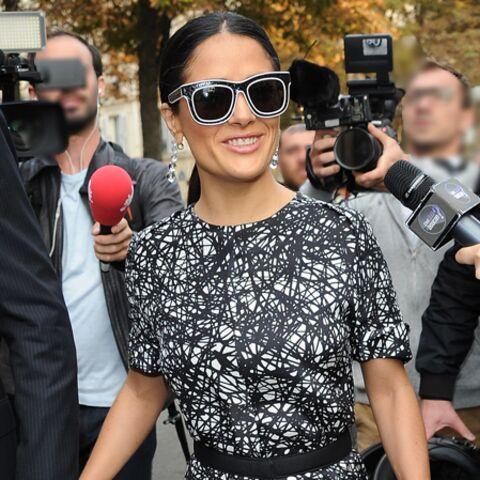 Photos- Salma Hayek, l'élégante de Balenciaga
