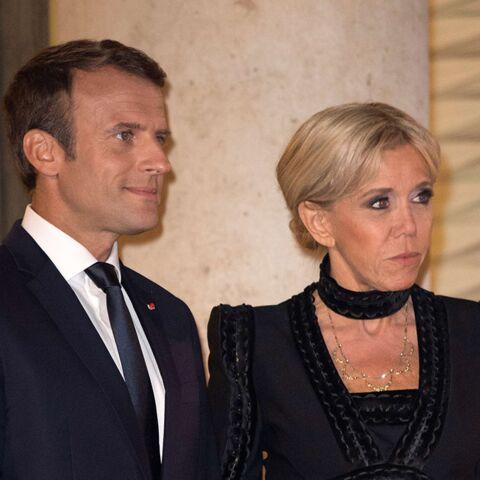 PHOTOS – Brigitte Macron chicissime pour son premier dîner d'Etat à l'Elysée