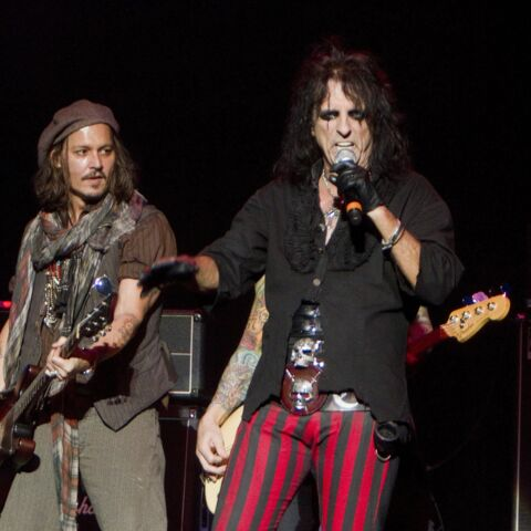 Johnny Depp et Alice Cooper, vampires d'Hollywood