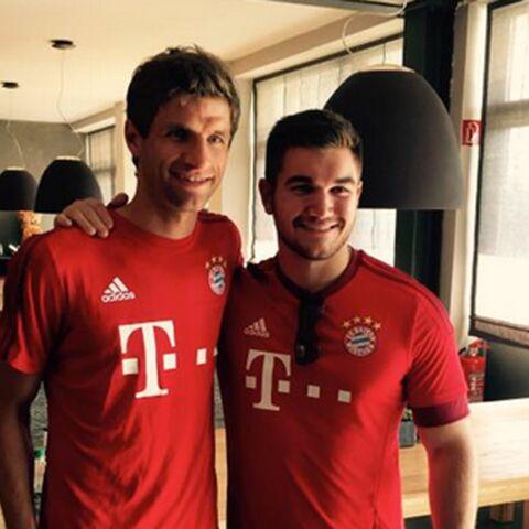 Thomas Müller a invité l'un des héros du Thalys