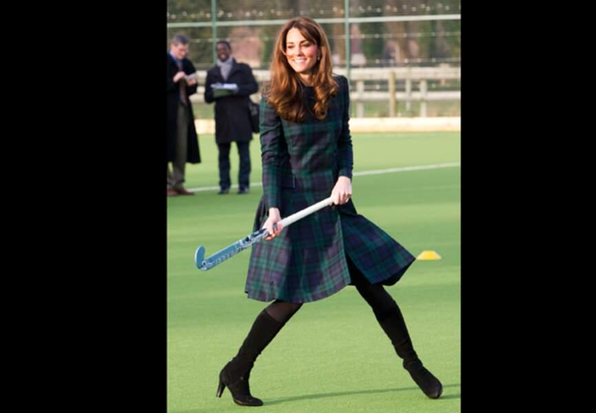 Même dans le feu de l'action la duchesse est radieuse