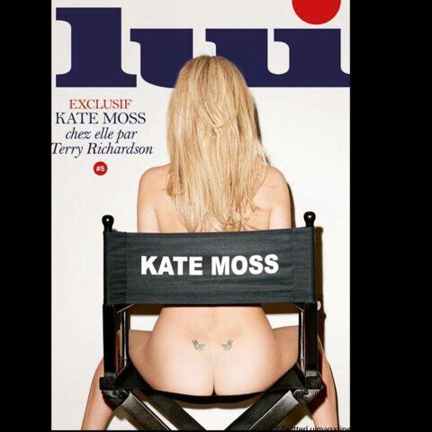 Kate Moss nue pour Lui