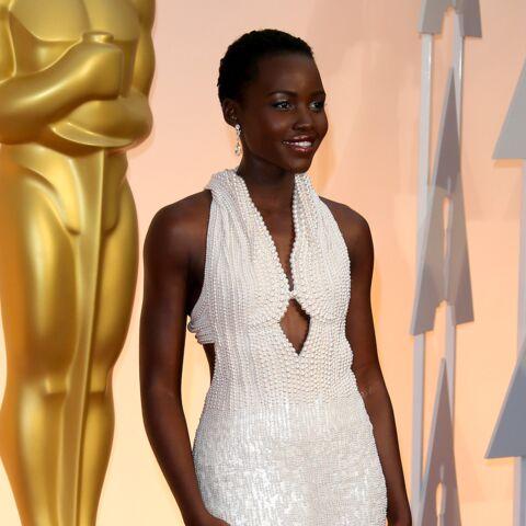 robe de soirée magnifique embelli de perles luxes de Lupita Niongo