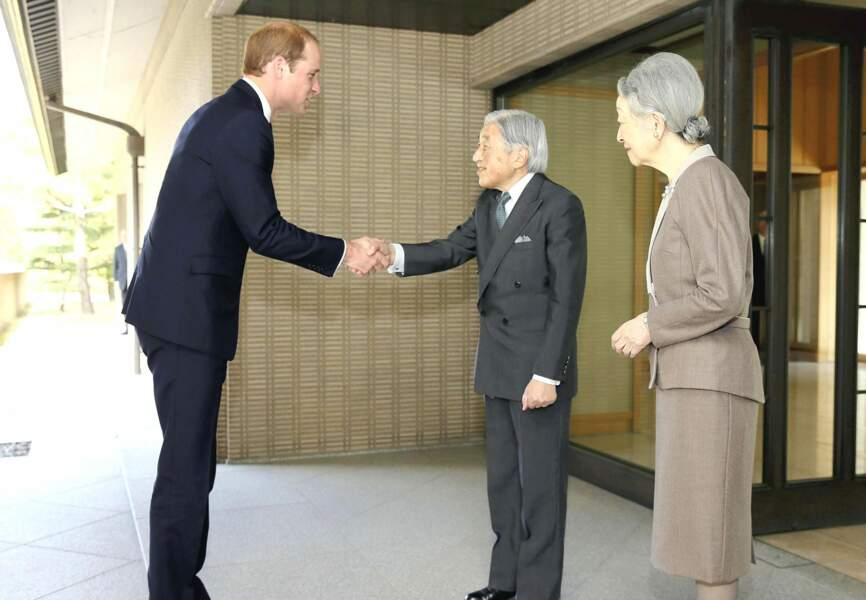 Le prince William a été accueilli par l'empereur Akihito et l'impératrice Michiko