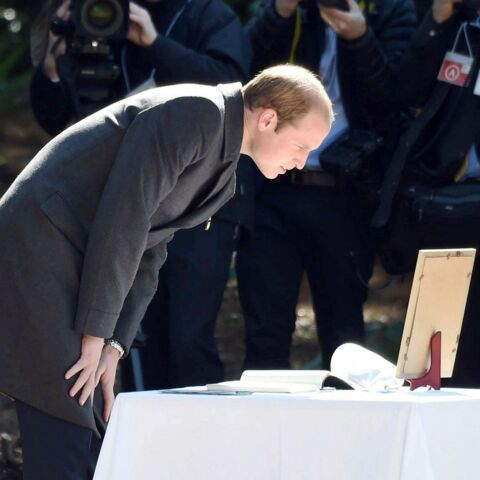 Le Prince William, sans Kate, au Japon