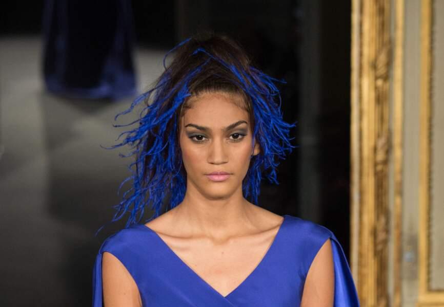 Bleu sur bleu dans les cheveux chez Alexis Mabille