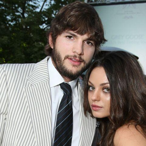 Mila Kunis et Ashton Kutcher en mode layette rose