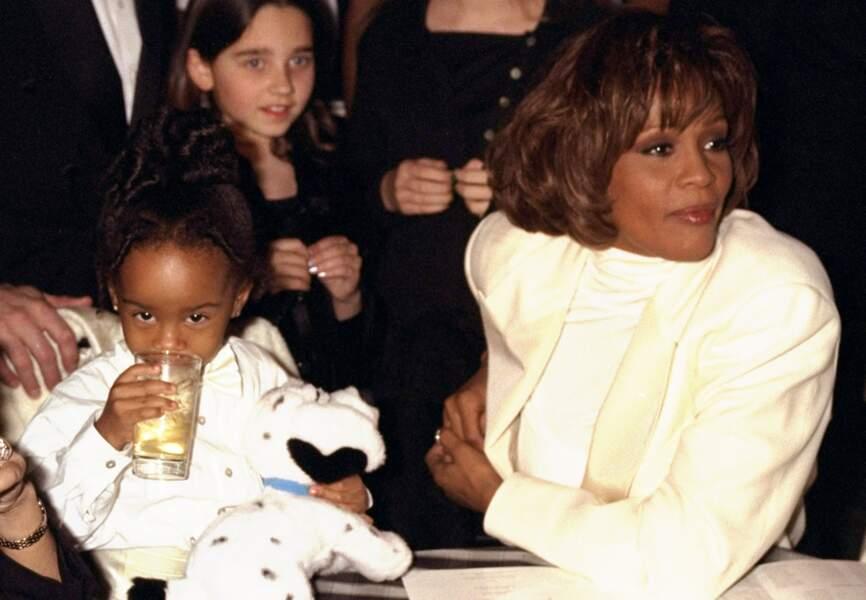 Whitney et Bobbi Kristina à la première de Preacher's wife en 1996