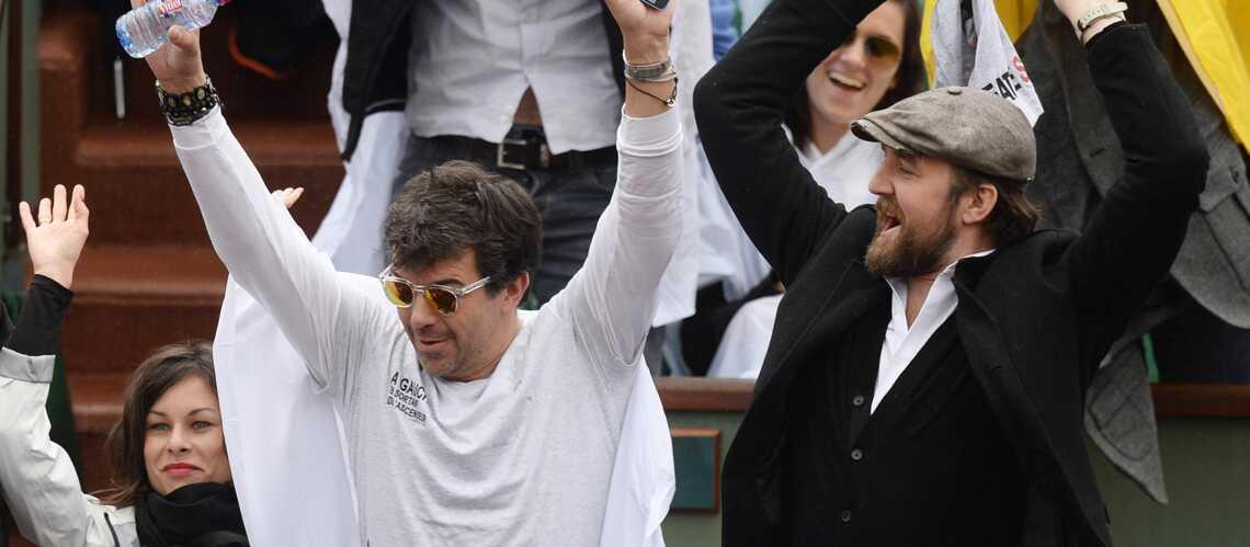 Stéphane Plaza: supporter enflammé à Roland Garros