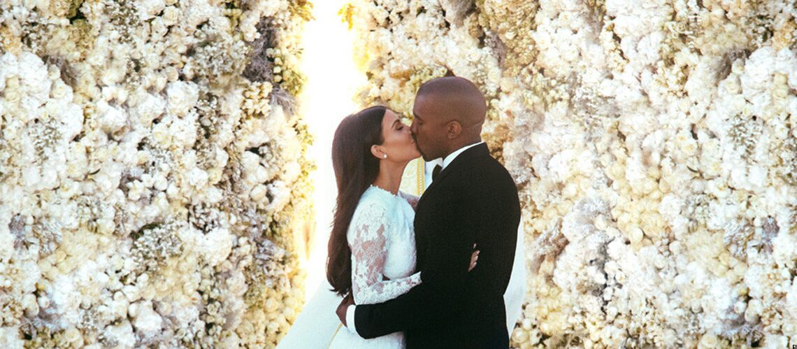 Kim Kardashian et Kanye West, les premières images officielles du mariage