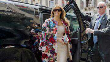 PHOTOS – Malgré son manteau hors de prix Melania Trump s'est fait voler la vedette par Brigitte Macron
