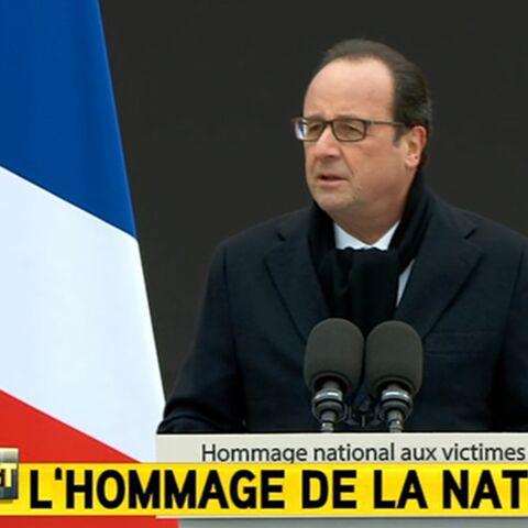 """François Hollande: """"Ils ont le culte de la mort, nous, nous avons l'amour de la vie"""""""