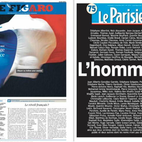 L'hommage national en une de la presse française