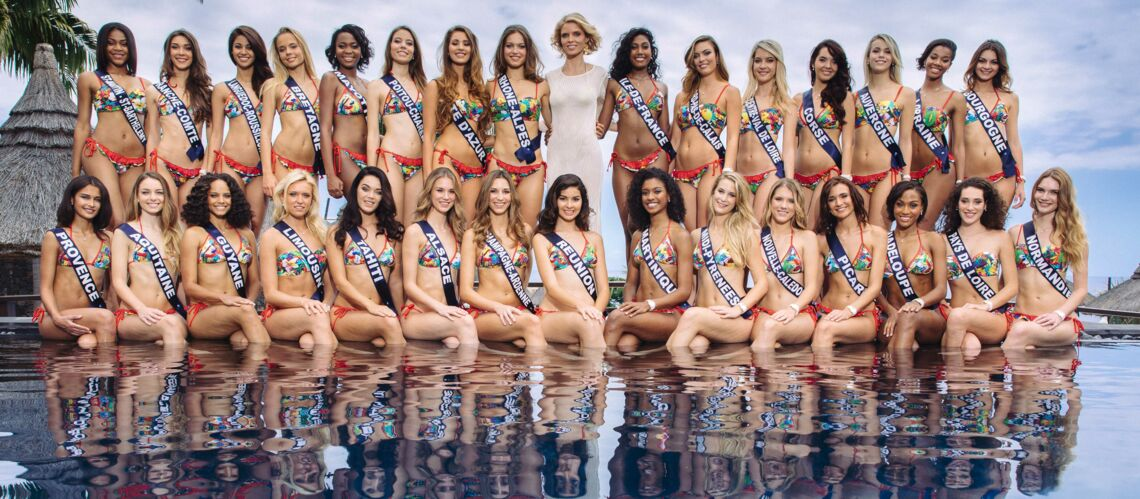Miss France 2017 : voici la photo offi­cielle des 30 candi­dates !