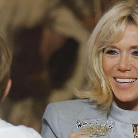 PHOTOS – Nemo, le chien du couple présidentiel, a failli faire tomber Brigitte Macron