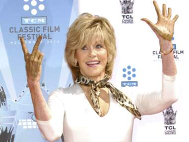 Jane Fonda a enfin ses empreintes dans le ciment du Chinese Theatre