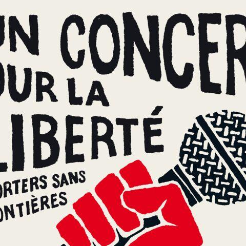 Edwy Plenel, Raphaëlle Bacqué et Florence Aubenas au «concert pour la liberté»