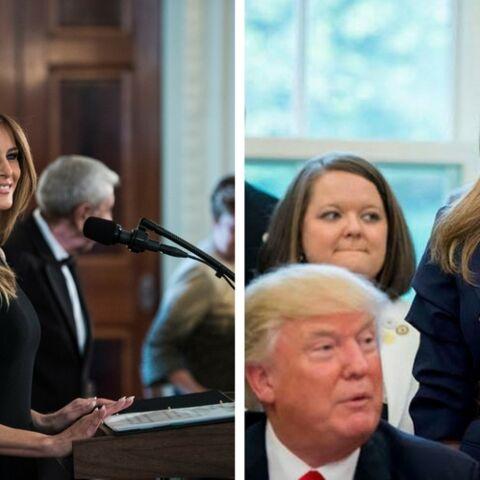 PHOTOS – Mélania Trump continue sa transformation de First Lady assagie: fini le balayage californien