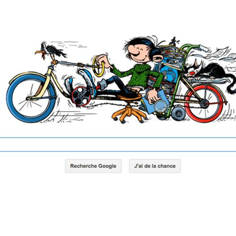 Gaston Lagaffe honoré par Google