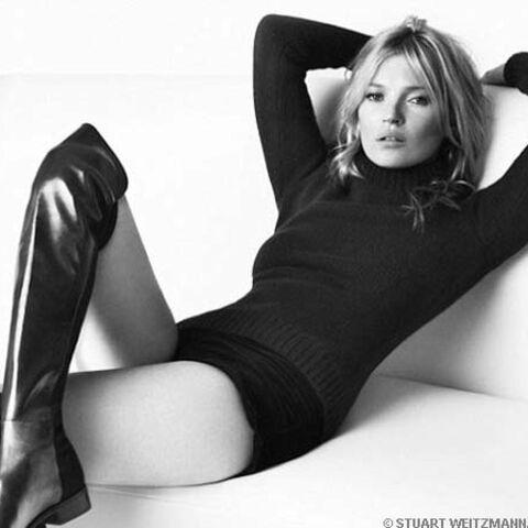 Kate Moss, bien dans ses pompes