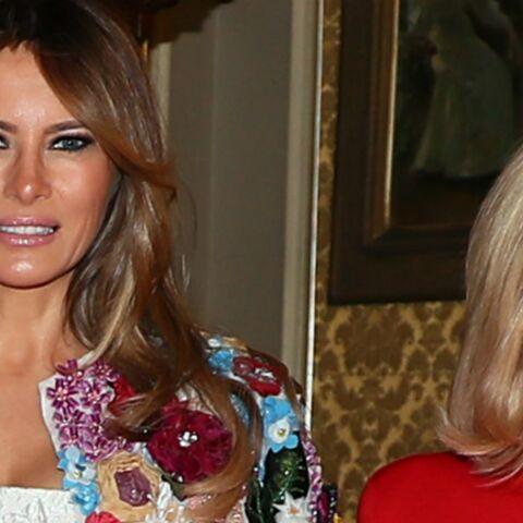 Melania Trump et Brigitte Macron: à l'international aussi leur rencontre passionne