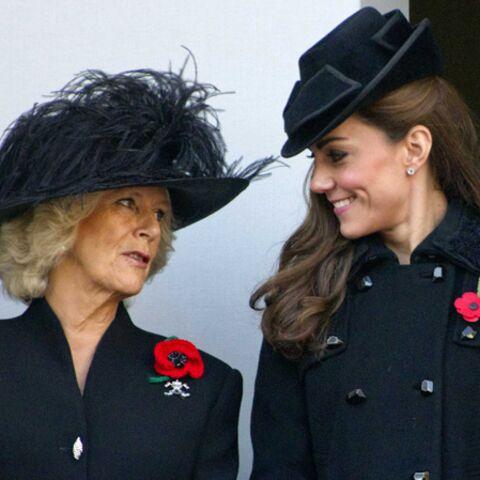 Camilla si pressé d'être belle grand mère