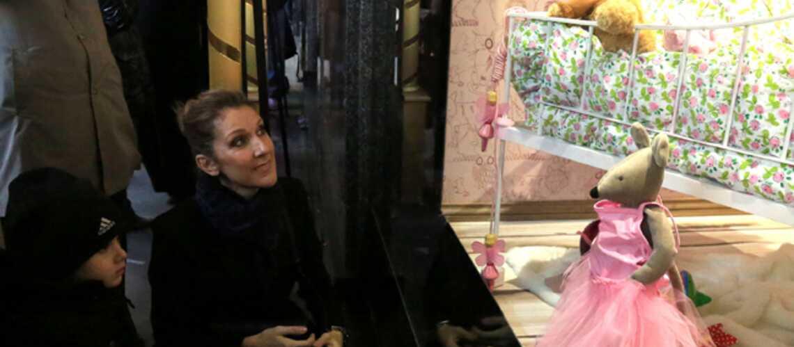 Photos- Céline Dion, tendre moment avec Eddy et Nelson