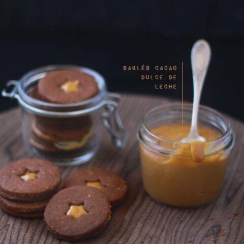 Sablés cacao et Dulce de Leche